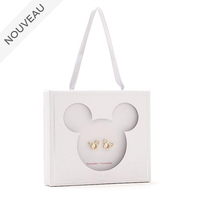 Disney Store Clous d'oreilles Mickey avec pierre de novembre