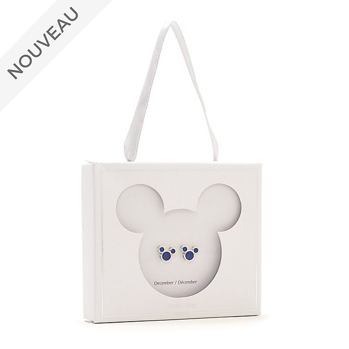 Disney Store Clous d'oreilles Mickey avec pierre de décembre