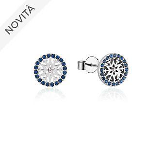Orecchini a bottone con pietra del mese di settembre Frozen 2: Il Segreto di Arendelle Couture Kingdom