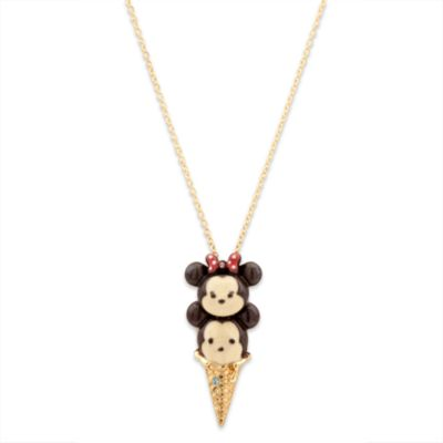 Mickey og Minnie Mouse Tsum Tsum vaffelis halskæde