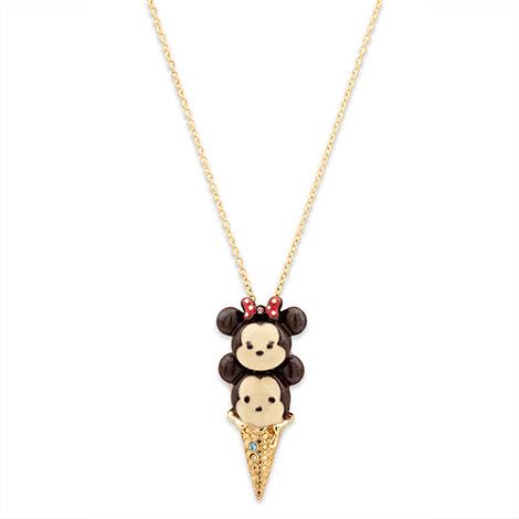 Mickey and Minnie Mouse Tsum Tsum Ice Cream Necklace