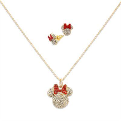 Minnie Maus Halskette und Ohrringe