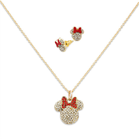 Minnie mouse necklace and earrings for Minnie mouse jewelry box
