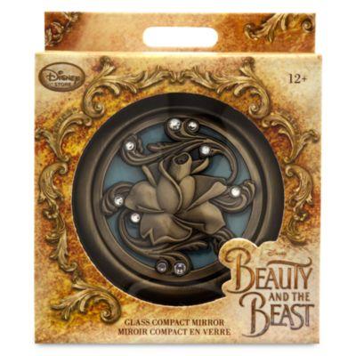 Hopfällbar spegel med Skönheten och Odjuret