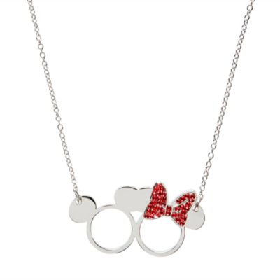 Mickey and Minnie Mouse Necklace