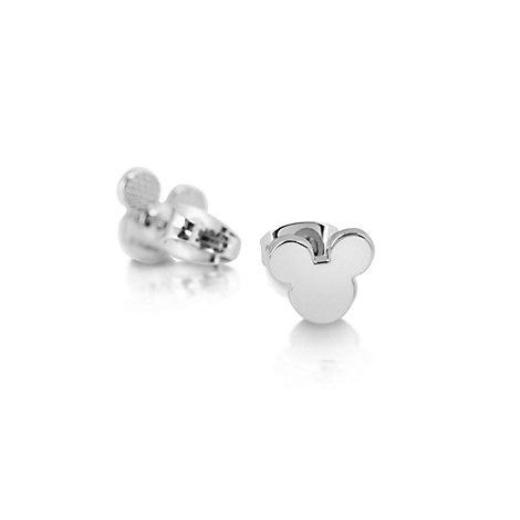 Boucles d'oreilles en plaqué or blanc Mickey Mouse Disney Couture