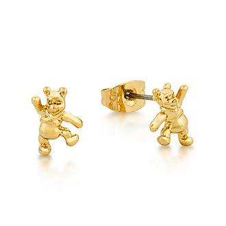 Pendientes de tuerca chapados en oro blanco de Winnie the Pooh, Disney Couture