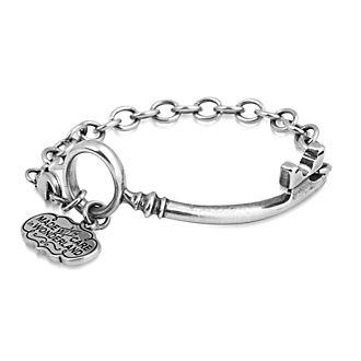 Couture Kingdom Alice in Wonderland White Gold-Plated Key Bracelet