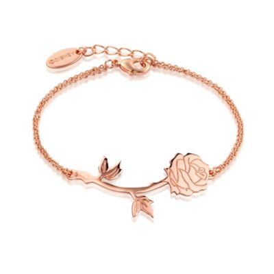 Disney Couture Beauty and the Beast Rose Gold-Plated Bracelet