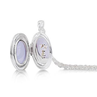 Collana placcata oro bianco con medaglione Trilli Disney Couture
