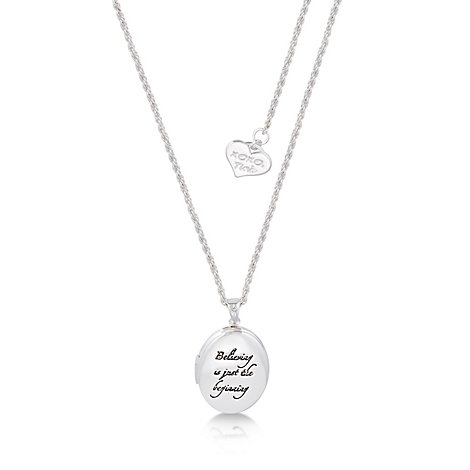 Disney Couture Tinker Bell White Gold-Plated Locket Necklace