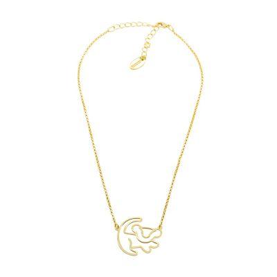 Collier en plaqué or Simba Disney Couture, Le Roi Lion