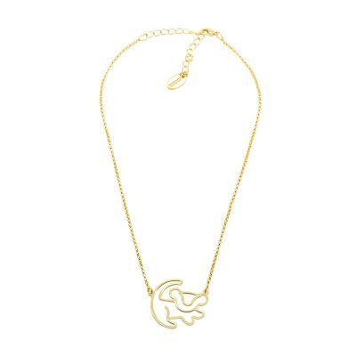 Collana placcata oro Simba Disney Couture, Il Re Leone
