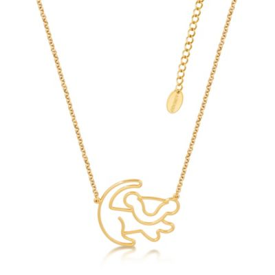 Disney Couture Simba Gold-Plated Necklace, The Lion King