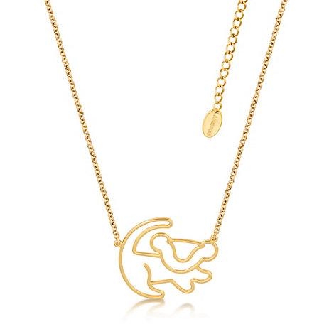 Collar chapado en oro de Simba, El Rey León, colección Disney Couture