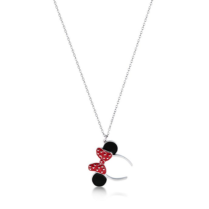 Couture Kingdom White Gold-Plated Minnie Mouse Ears Headband Necklace