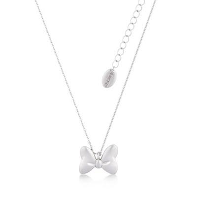 Couture Kingdom - Minnie Maus - mit Weißgold plattierte Halskette mit klassischem Schleifenanhänger