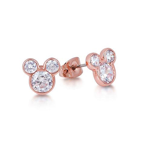 Boucles d'oreilles plaquées en or rose Couture Kingdom, Mickey Mouse