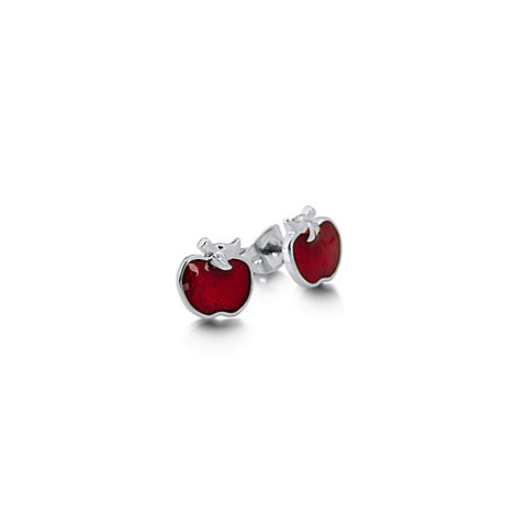 Couture Kingdom Poison Apple White Gold-Plated Earrings