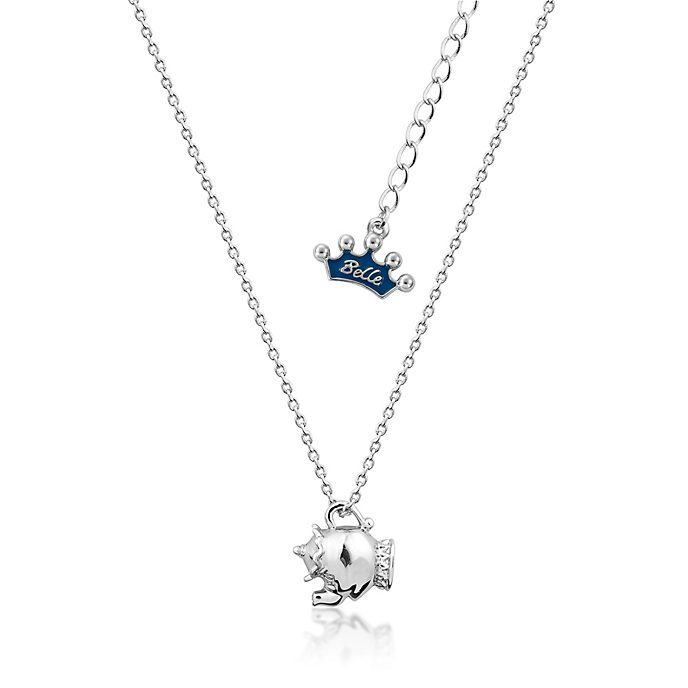 Couture Kingdom White Gold-Plated Necklace, Mrs Potts