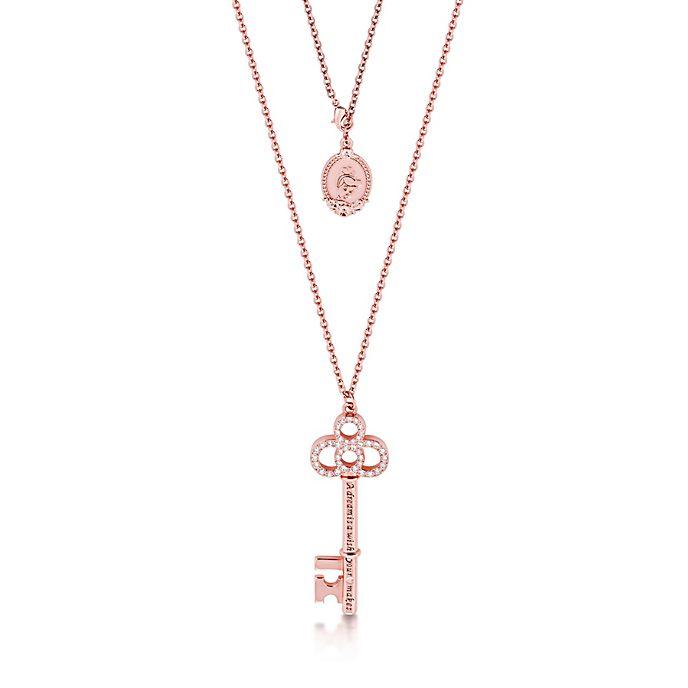 Collar Couture Kingdom con llave chapado en oro rosa, La Cenicienta