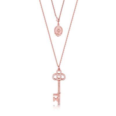 Collana con chiave placcata oro rosa Couture Kingdom, Cenerentola