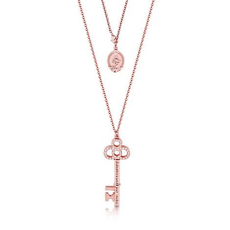 Couture Kingdom - mit Roségold plattierte Halskette mit Schlüsselmotiv - Cinderella