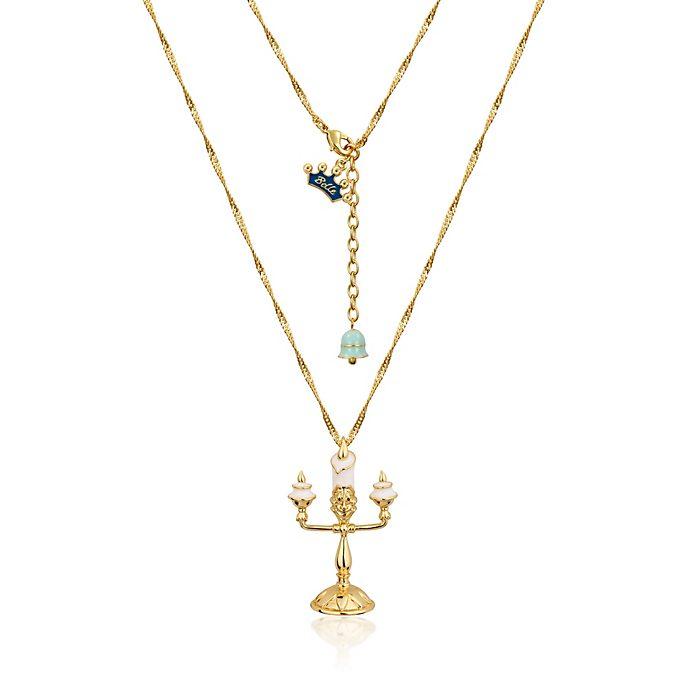 Collar Couture Kingdom chapado en oro Lumier, la Bella y la Bestia