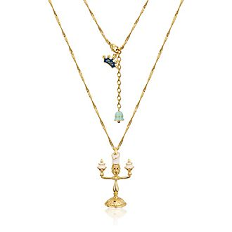Couture Kingdom - mit Weißgold plattierte Halskette mit Lumière Anhänger - die Schöne und das Biest