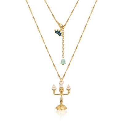 Collier plaqué en or blanc Lumière Couture Kingdom, La Belle et la Bête