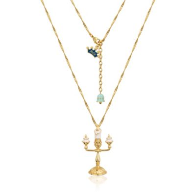 Couture Kingdom Lumiere Gold-Plated Necklace, Beauty and the Beast