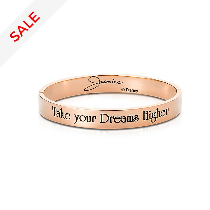 Couture Kingdom Rose Gold-Plated Bangle, Princess Jasmine