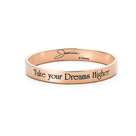 Bracelet Princesse Jasmine plaqué en or rose, collection Couture Kingdom