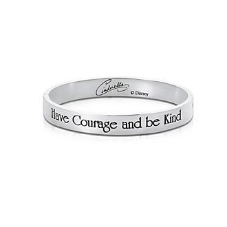 Couture Kingdom White Gold-Plated Bangle, Cinderella