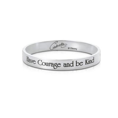 Bracelet Cendrillon plaqué en or blanc, collection Couture Kingdom