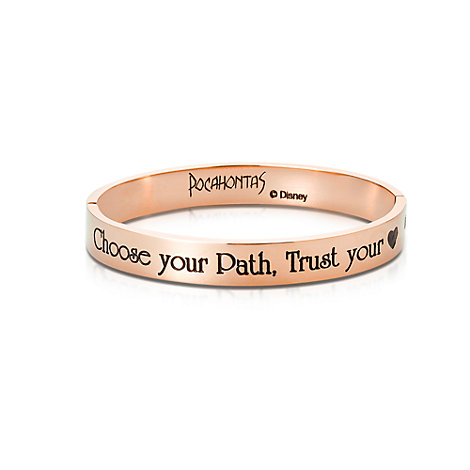Couture Kingdom Rose Gold-Plated Bangle, Pocahontas