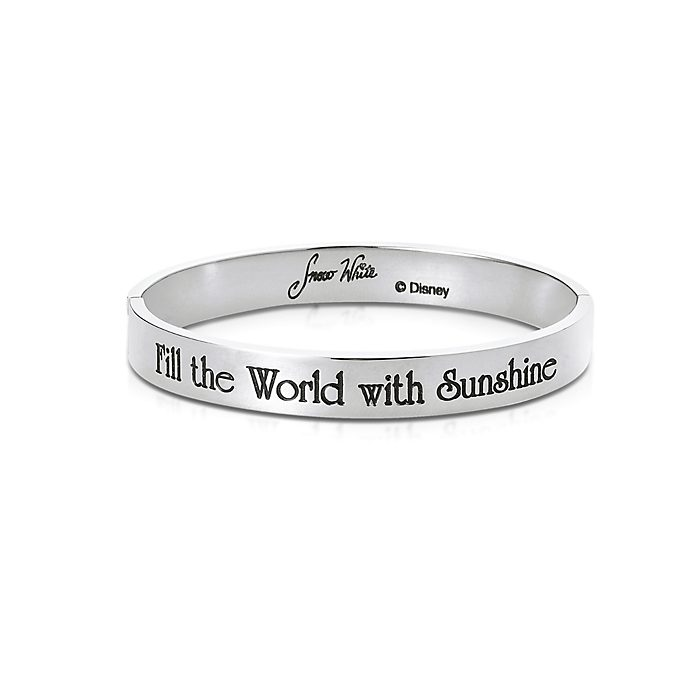 Couture Kingdom White Gold-Plated Bangle, Snow White