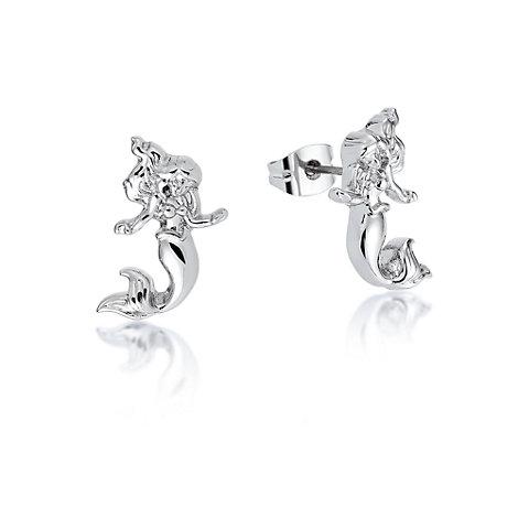 Boucles d'oreilles Ariel plaquées or blanc, collection Couture Kingdom