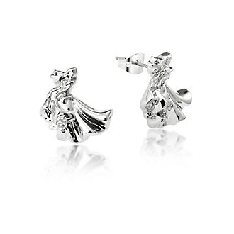 Couture Kingdom White Gold-Plated Earrings, Aurora