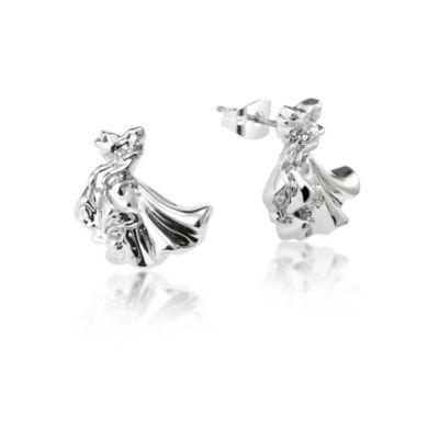 Boucles d'oreilles Aurore plaquées or blanc, collection Couture Kingdom