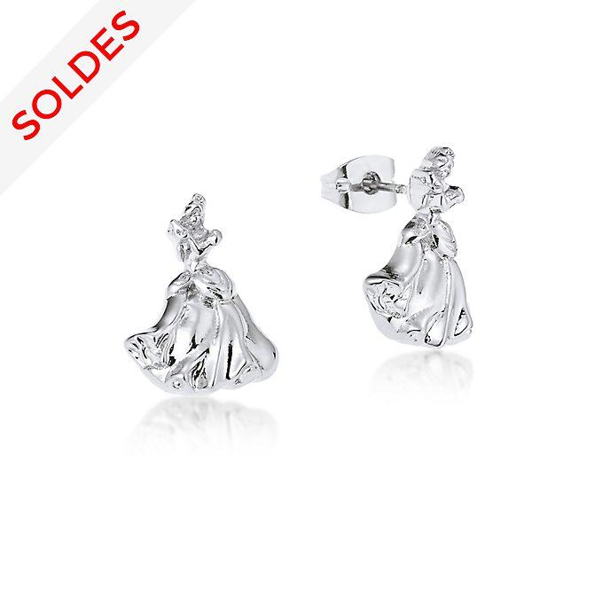 Boucles d'oreilles Cendrillon plaquées or blanc, collection Couture Kingdom