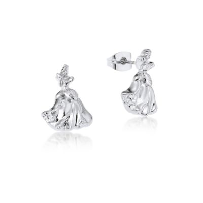 Couture Kingdom White Gold-Plated Earrings, Cinderella