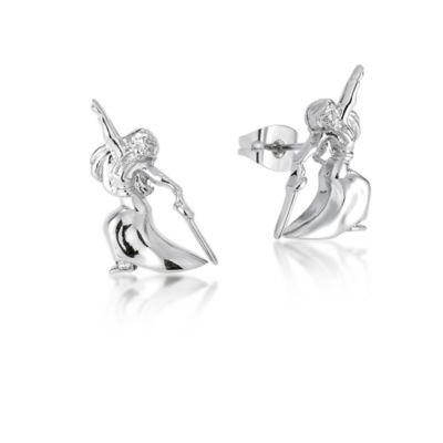 Boucles d'oreilles Mulan plaquées or blanc, collection Couture Kingdom