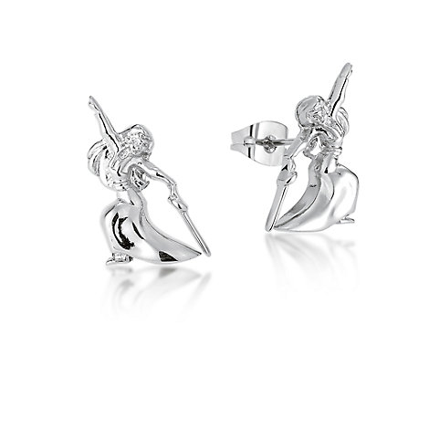 Couture Kingdom White Gold-Plated Earrings, Disney Mulan