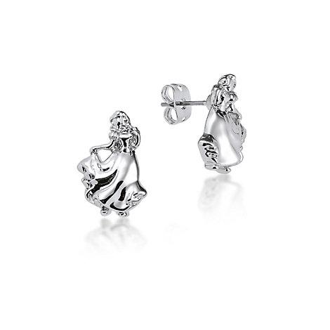 Boucles d'oreilles Blanche Neige plaquées or blanc, collection Couture Kingdom