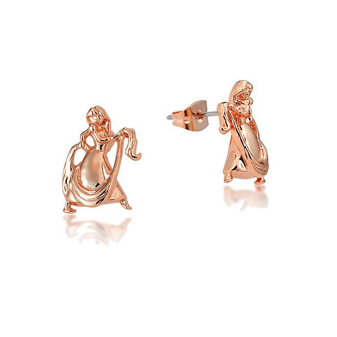 Pendientes bañados en oro rosa Rapunzel, Couture Kingdom