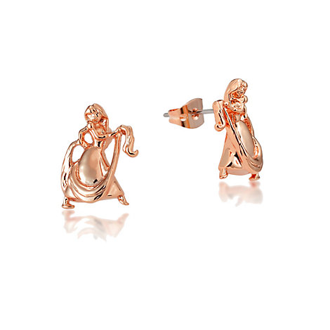 Couture Kingdom Rose Gold-Plated Earrings, Rapunzel