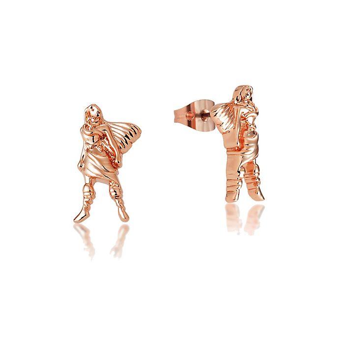 Boucles d'oreilles Pocahontas plaquées or rose, collection Couture Kingdom