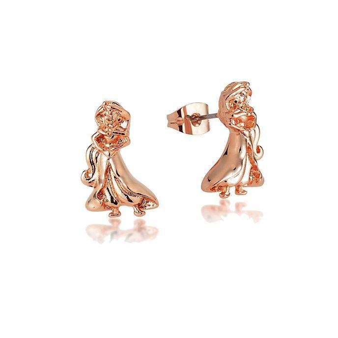 Pendientes bañados en oro rosa princesa Jasmine, Couture Kingdom