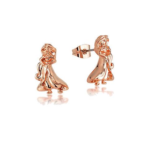 Boucles d'oreilles Princesse Jasmine plaquées or rose, collection Couture Kingdom
